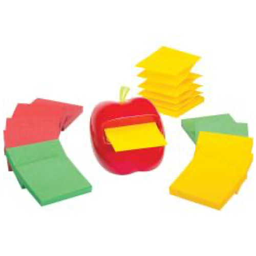 3M™ - Self adhesive note paper - Post-It® Pop-Up Note Apple Shaped Dispenser - 3in. x 3in. x 3in. x 3in.
