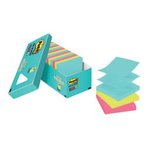 3M™ - Self adhesive note paper - Post-It® Notes Super Sticky Pop-Up Notes - 3in. x 3in. - PK of 18