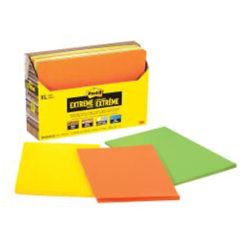 3M™ - Self adhesive note paper - Post-It® Notes Extreme Notes - 4.5in. x 6.75in. - PK of 9