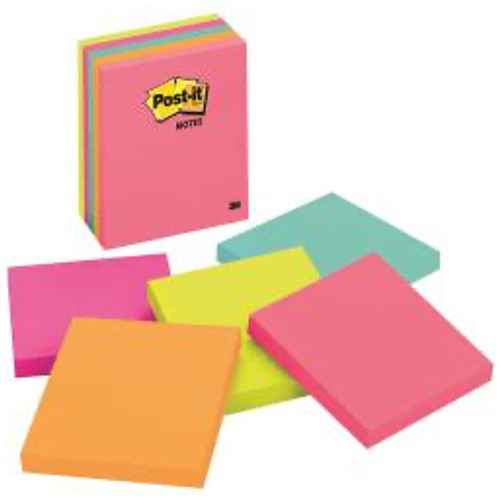 3M™ - Self adhesive note paper - Post-It® Notes Original Notepads - 4in. x 4in. - PK of 5