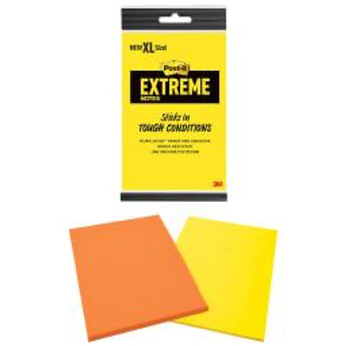 3M™ - Self adhesive note paper - Post-It® Xl Extreme Notes - 4.50in. x 6.75in. - PK of 2