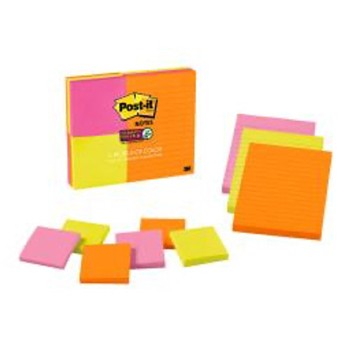 3M™ - Self adhesive note paper - Post-It® Super Sticky Notes - 3in. x 3in. x 4in. x 6in.