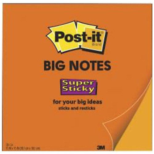 3M™ - Self adhesive note paper - Post-It® Super Sticky Big Notes - 11in. x 11in.