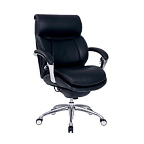 "Serta® - Chair - Bonded Leather Icomfort for Workpro I5000 Series Mid-Back Chair 4"" h x 29-1-2"" w x 32-1-2"" d - Onyx-chrome"