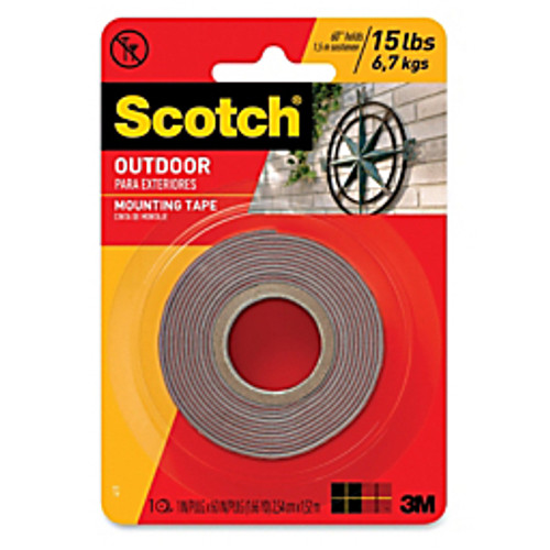 Scotch™ - Double sided tape - Outdoor Mounting Double-Sided Tape - 1in. x 1in. x 60in.