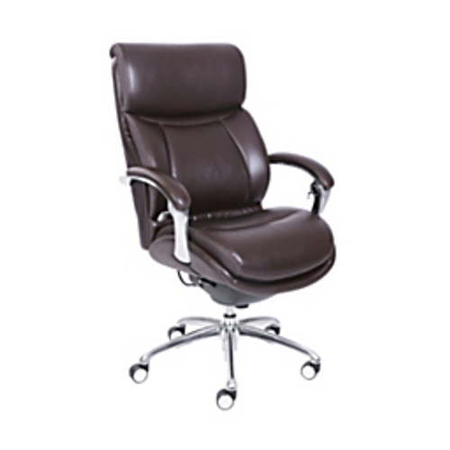 "Serta® - Chair - Bonded Leather Icomfort for Workpro I5000 Series High-Back Chair Tested to Support Up to 300 lb - 44"" h x 29-1-2"" w x 19-1-2"" d - Chocolate-chrome"
