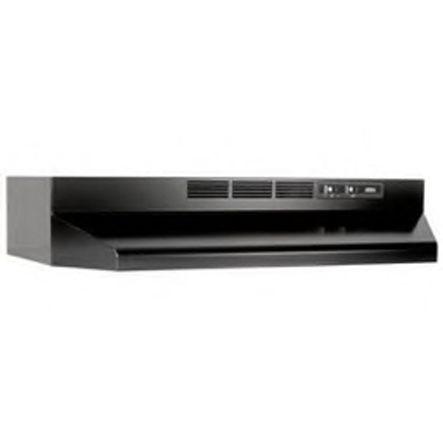 """Broan® - Range Hood - Non Ducted in Black 30"""" Under Cabinet Range Hood with 2-Speed Control with Light"""