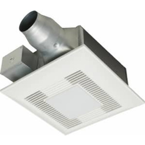 Panasonic - Ceiling Exhaust Fan - 110 Cfm Mounted Ceiling Fan with Light in White