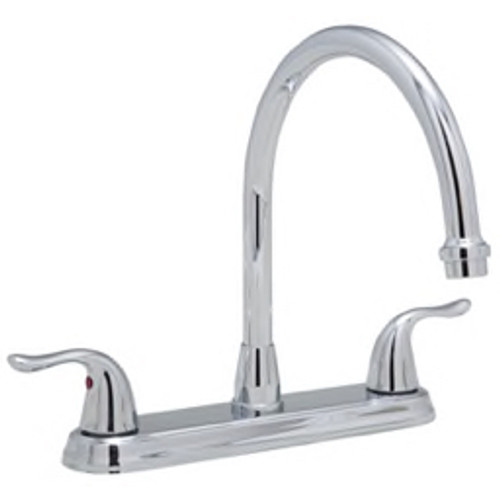 PROFLO® - Kitchen Faucet - 4-Hole Kitchen Faucet with Double Lever Handle in Polished Chrome - Less Spray  PFXC6880LSCP