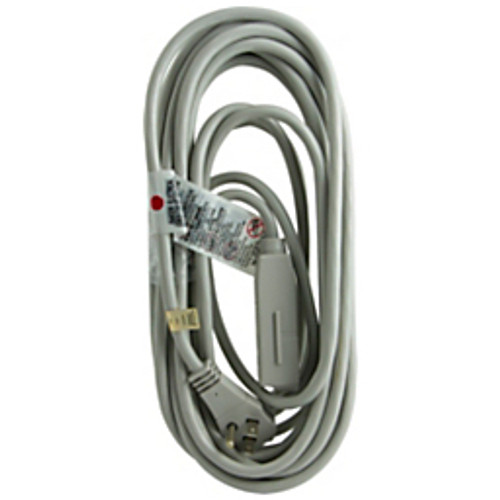 General Electric - Extension Cord - 3-Outlet Extension Cord, 25, Gray - GE 3-Outlet Extension Cord - 12in. x 4.25in. x 2in. - gray