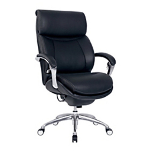 "Serta® - Chair - Bonded Leather Icomfort for Workpro I5000 Series High-Back Chair 33"" d x 46-3-4"" h x 29-1-2"" w - Onyx-chrome"
