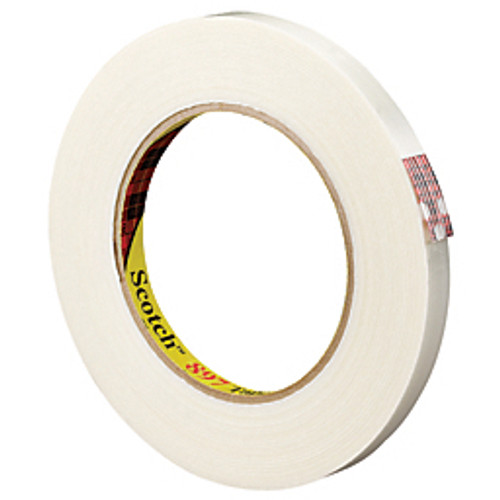 "3M™ - Fiberglass Tape - 897 Medium-Grade Filament Tape 1"" x 60 yds, Clear - PK of 12 RL"