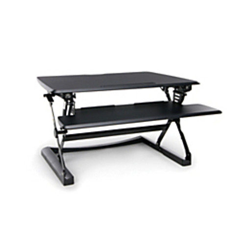 "OFM™ - Keyboard Tray - Height-Adjustable Sit-to-Stand Desktop Riser with Tiered Keyboard Tray 22.8 x 35 x 5.9"" Black"
