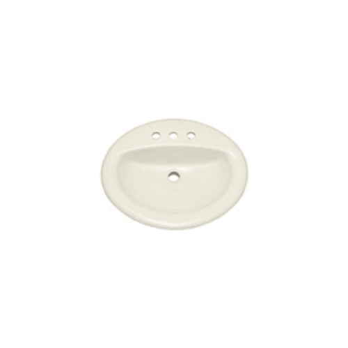 """PROFLO® - Lav Sink - Lavatory Sink - 20"""" x 17"""" 4 Centerset Vitreous China Drop in Biscuit"""