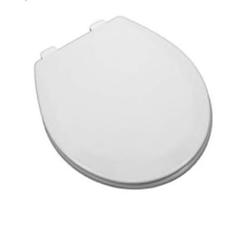 PROFLO® - Toilet Seat - Round Front Wood Closet Seat with Easy Clean Biscuit