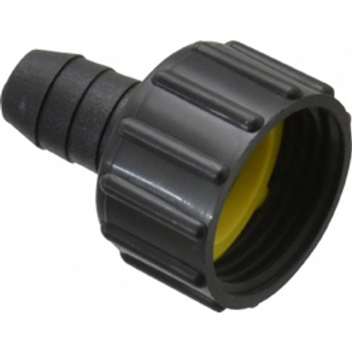 """Green Leaf - Hose Fitting - 3/4"""" Fght x 1/2"""" Barb Three Piece Barb Assembly - CA of 12"""