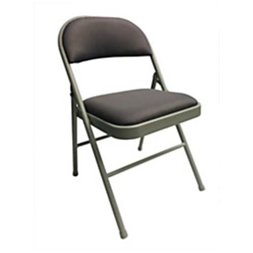 """Realspace® - Chair - Upholstered Padded Folding Chair, 30-1-2"""" h x 18-1-10"""" w x 18-1-2"""" d, Gray-gray - CA of 2"""
