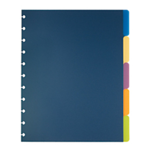 """TUL® - Dividers - Custom Note-Taking System Discbound Tab Dividers 8-1/2"""" x 11"""" - PK of 5"""