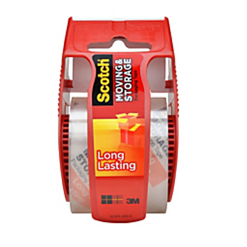 """3M™ - Shipping Tape - Scotch® Long-Lasting Moving & Storage Tape with Refillable Dispenser, 2"""" x 22. 2, yds Clear"""