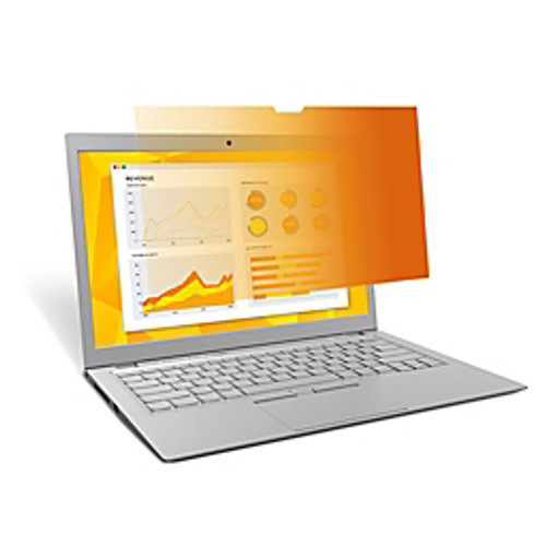 """3M™ - Screen Filter - Gold Privacy Filter for 13.3"""" Widescreen Laptop"""