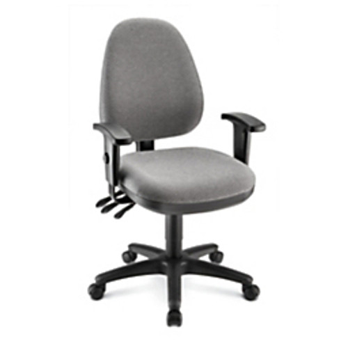 """Realspace® - Chair - WorkPro® Patriot Multi-Function Fabric Task Chair, - 39 3-4"""" """" H - Gray-Black"""