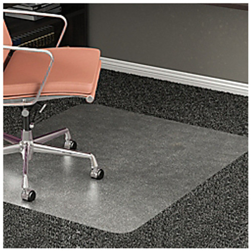 """Realspace® - Chair Mat - 35% Recycled All-Pile Studded Chair Mat, 36"""" x 48"""" - Clear - CA of 2"""
