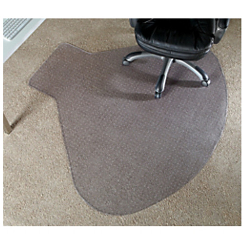 "Realspace® - Chair Mat - L-Shaped Workstation Chair Mat, 66"" w x 60"" d, Clear"
