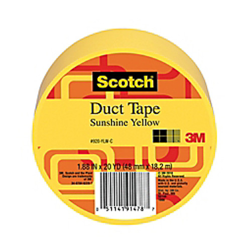 """3M™ - Tape - Scotch® Colored Duct Tape, 1-7/8"""" x 20 yds Yellow - Scotch® Duct Tape"""