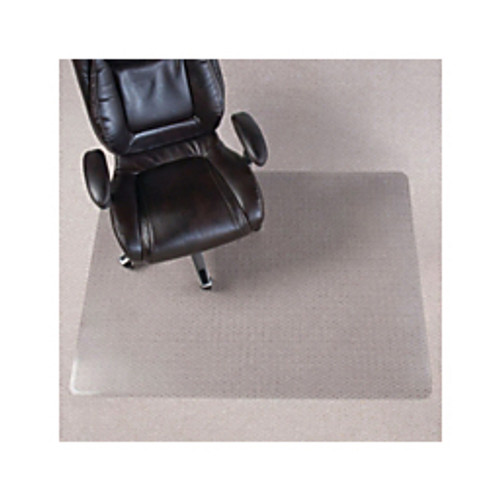 "Realspace® - Chair Mat - Chair Mat for Thin Commercial-Grade Carpets, Rectangular, 46"" w x 60"" d, Clear"