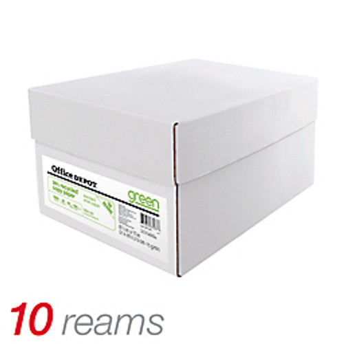 "Office Depot® - Copy Paper - EnviroCopy® 30 Paper, 8-1/2"" x 11"", 20 lb, 30% Recycled, - CT of 10 RM"