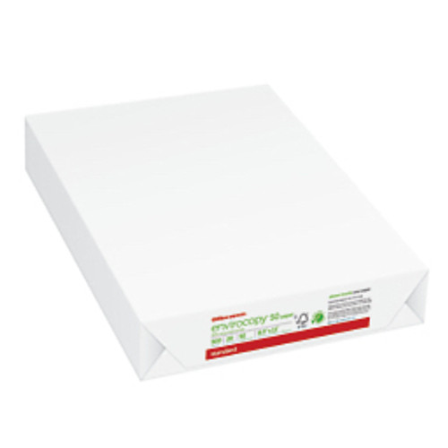 Office Depot® - Copy Paper - EnviroCopy® 50 Paper, 8-1/2in. x 11in., 20 lb, 50% Recycled, Fsc Certified White - 8-1/2in. x 11in. - white - RM of 500 SH