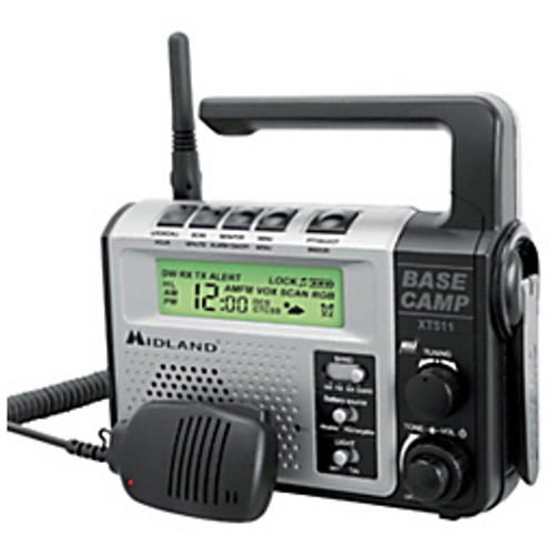 Midland® - Two Way Radio - Base Camp 2-Way Radio - 162-3/64in. x 184-5/32in. x 69-27/32in. - Silver- Black
