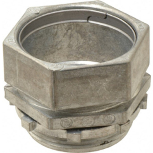 Thomas & Betts - Conduit Fittings - 2-1/2in. Trade, Die Cast Zinc Compression Straight Emt Conduit Connector