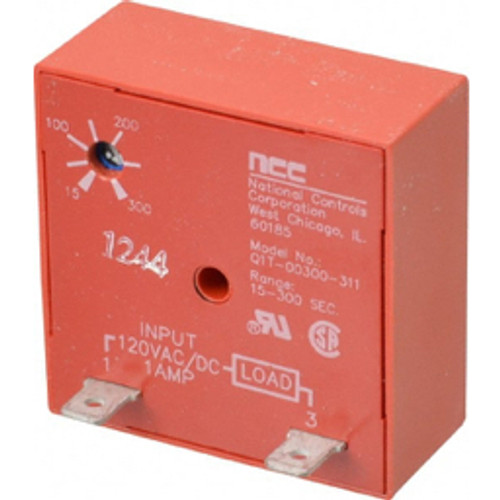 NCC - Timer Delay - 2 Pin, Time Delay Relay - 120vac-dc 15-300 Sec. Ncc Cube Timer Delay on