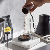Coffee gear, acaia pearl scale with French press