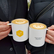 PCR x MiiR Camp cups with latte