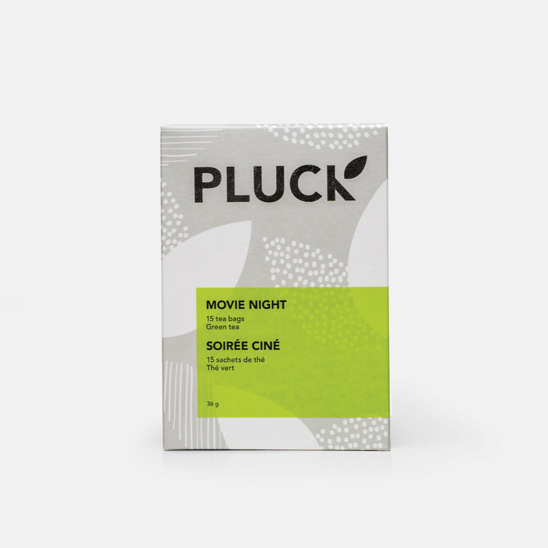 Pluck Tea – Box of  'Movie Night' Green tea sachets, 15x per bag