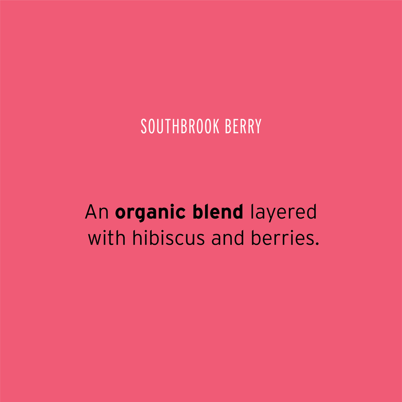 Pluck Tea – 'Organic Southbrook Berry' Tisane tea – An organic blend layered with hibiscus and berries