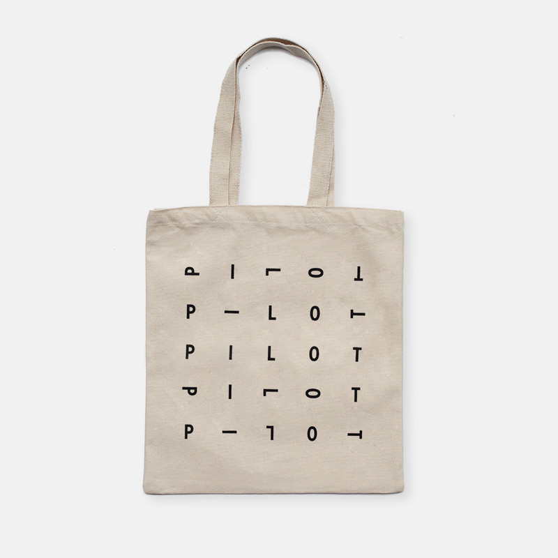 Pilot canvas tote bag front design