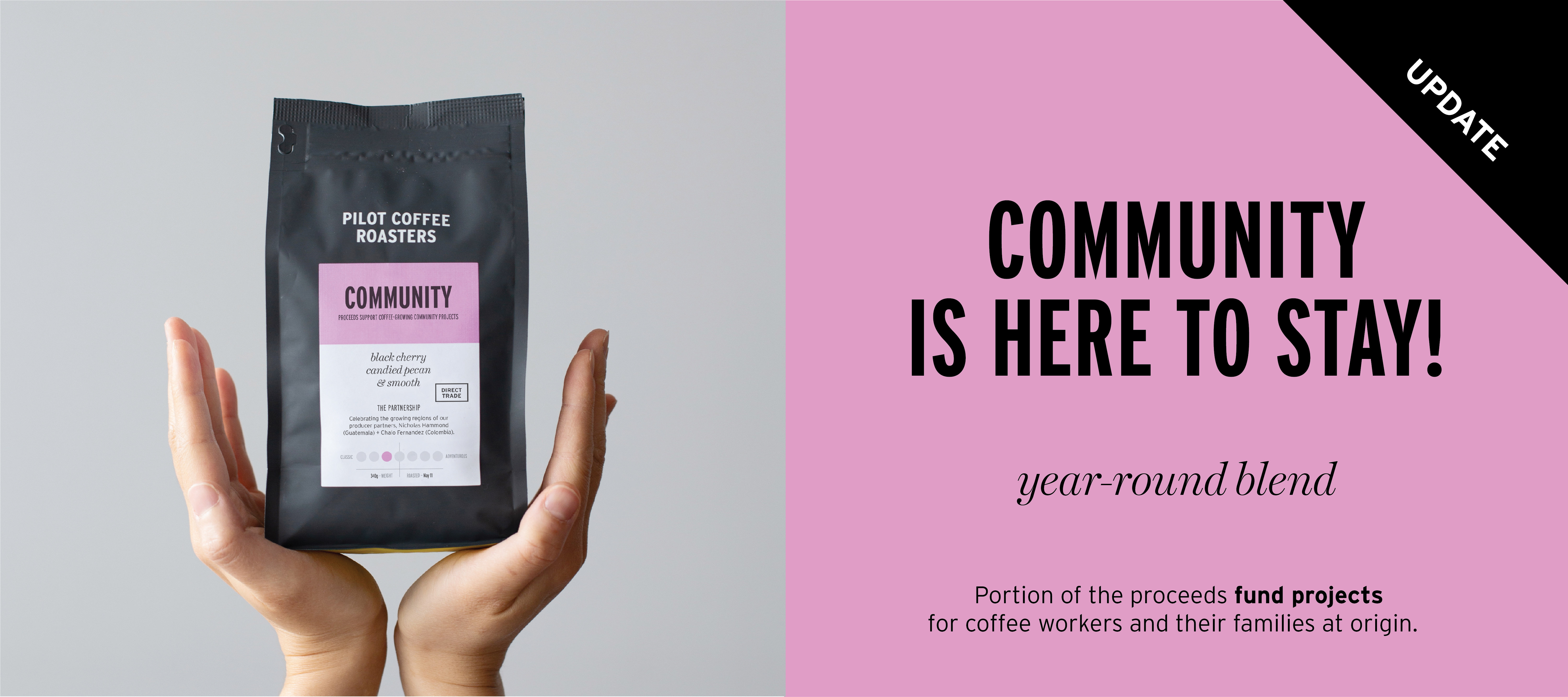 Year-round classic blend, proceeds fund projects for coffee workers and their families