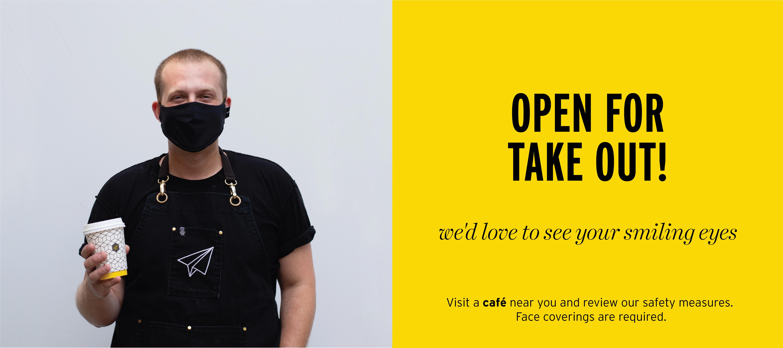 Best coffee in Toronto, multiple locations open, safe, order ahead app