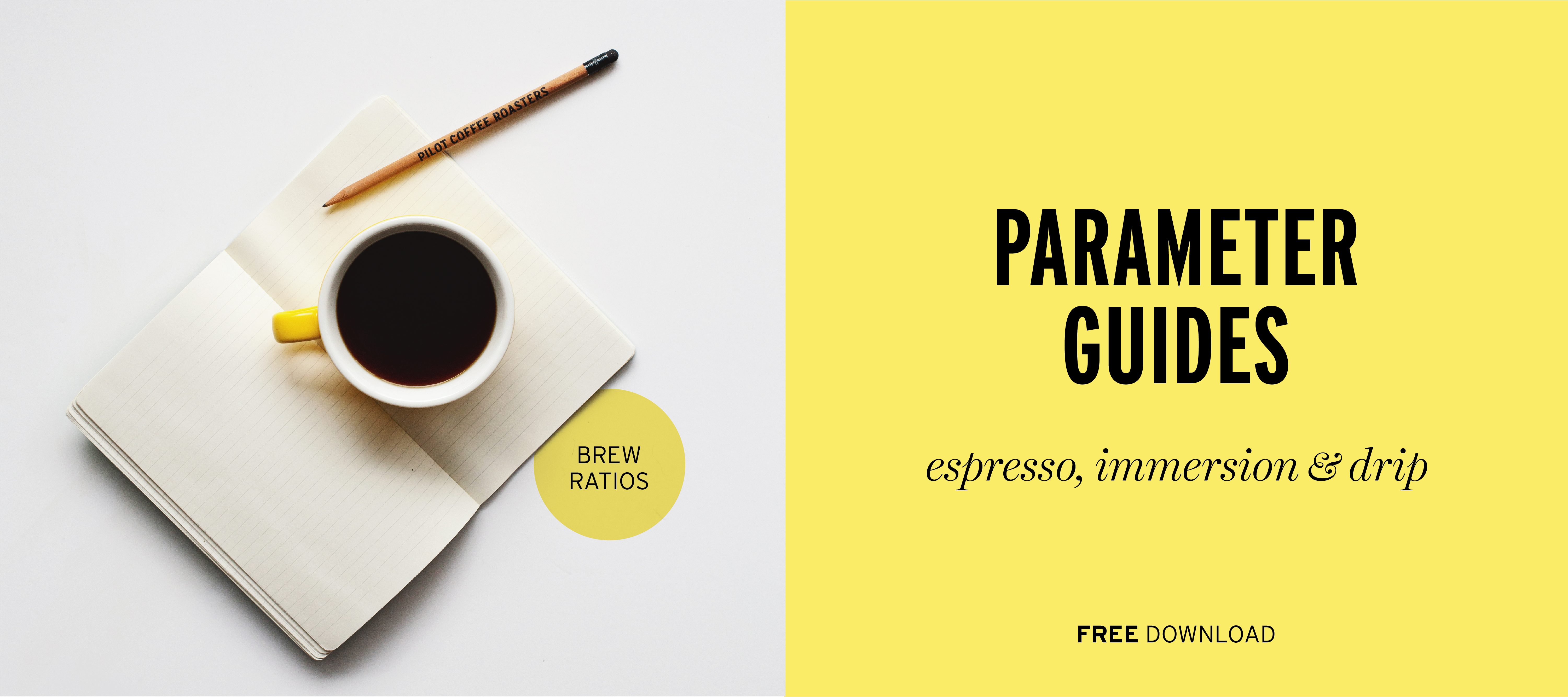 Brewing Parameters for espresso, drip and immersion coffee brewing, free guides