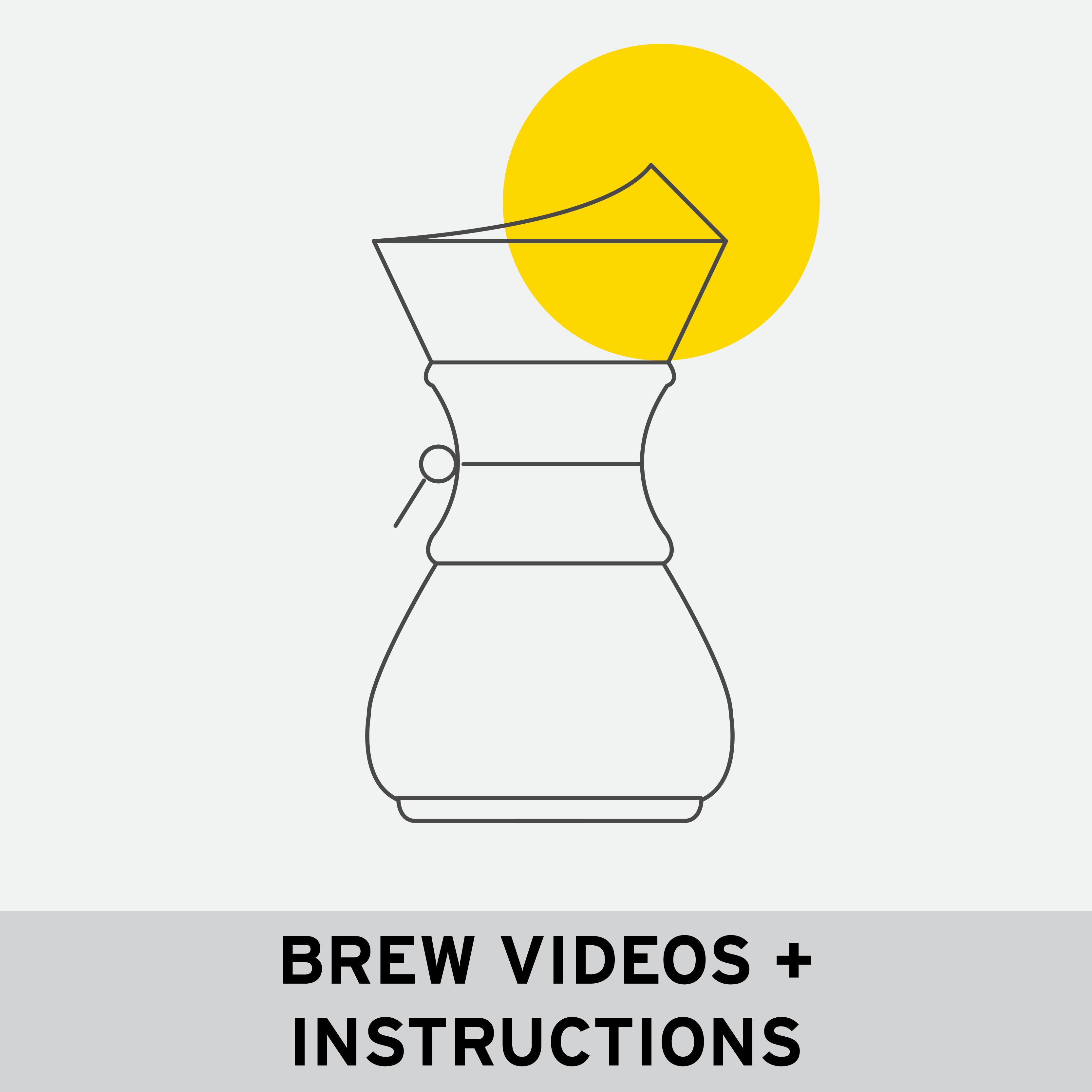 BREW VIDEOS + INSTRUCTIONS