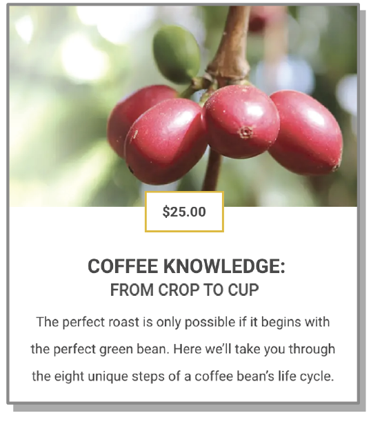 COFFEE KNOWLEDGE: FROM CROP TO CUP