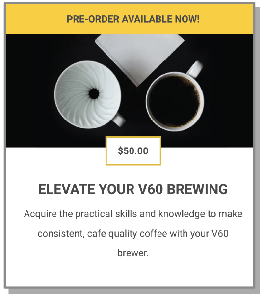 ELEVATE YOUR V60 BREWING