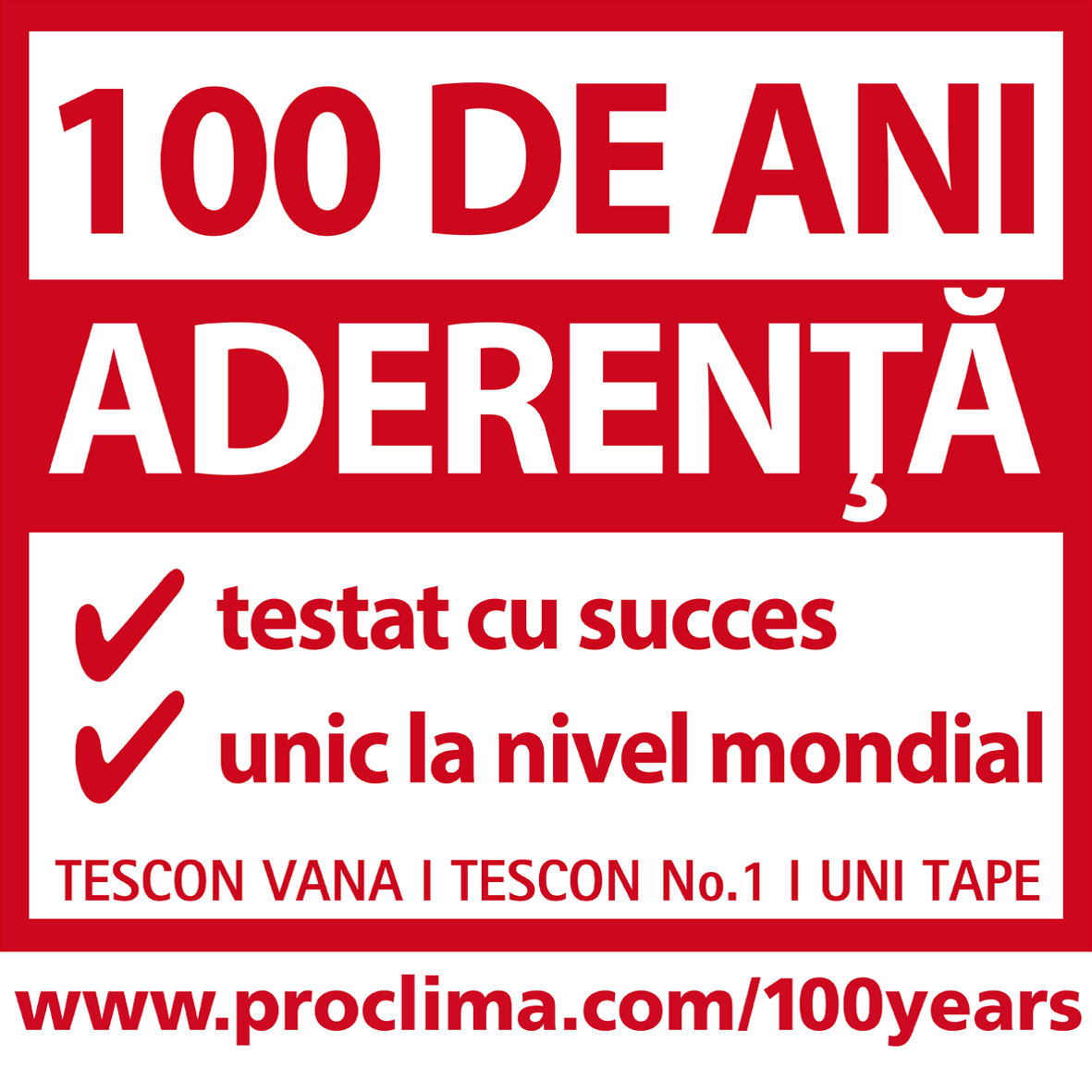 100 de ani aderenta