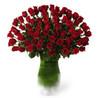 Premium Six Dozen Red Rose Flower Arrangement