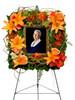 Garden Photo Frame Funeral Wreath Flower Arrangment