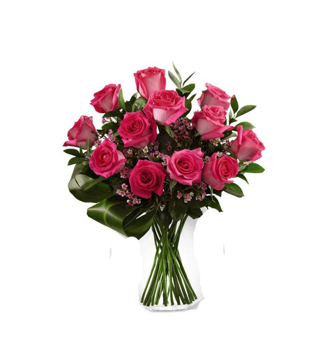 Just Perfect Pink Rose Flower Arrangement Bouquet