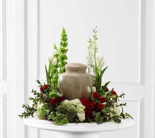 Tears of Comfort Urn Sympathy Flower Arrangement
